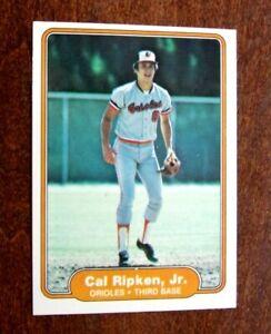 1982 CAL RIPKEN ROOKIE CARD FLEER #176