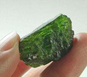 46Ct Natural Russian Chrome Green Diopside Facet Rough Specimen YDS1809