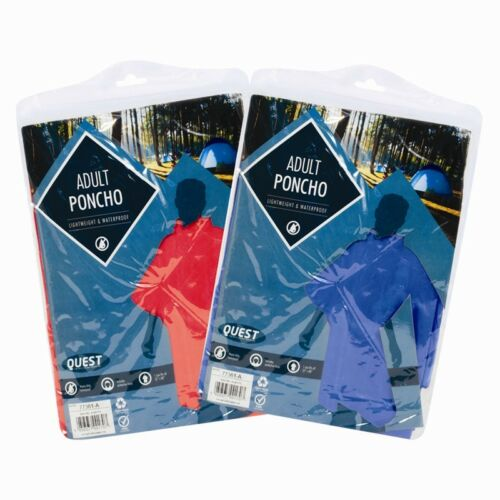 2x REUSABLE LIGHTWEIGHT WATERPROOF RAIN PONCHO FESTIVALS & THEME PARKS ADULT