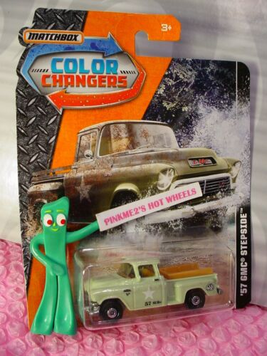 Military '57 GMC STEPSIDE truck green; tools in bed 2017 MATCHBOX COLOR CHANGERS