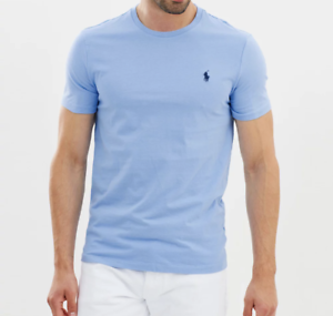 Polo-Ralph-Lauren-Men-039-s-Custom-SLIM-Fit-Cotton-T-Shirt-Crew-Neck-Tee-S-M-L-XL-XX