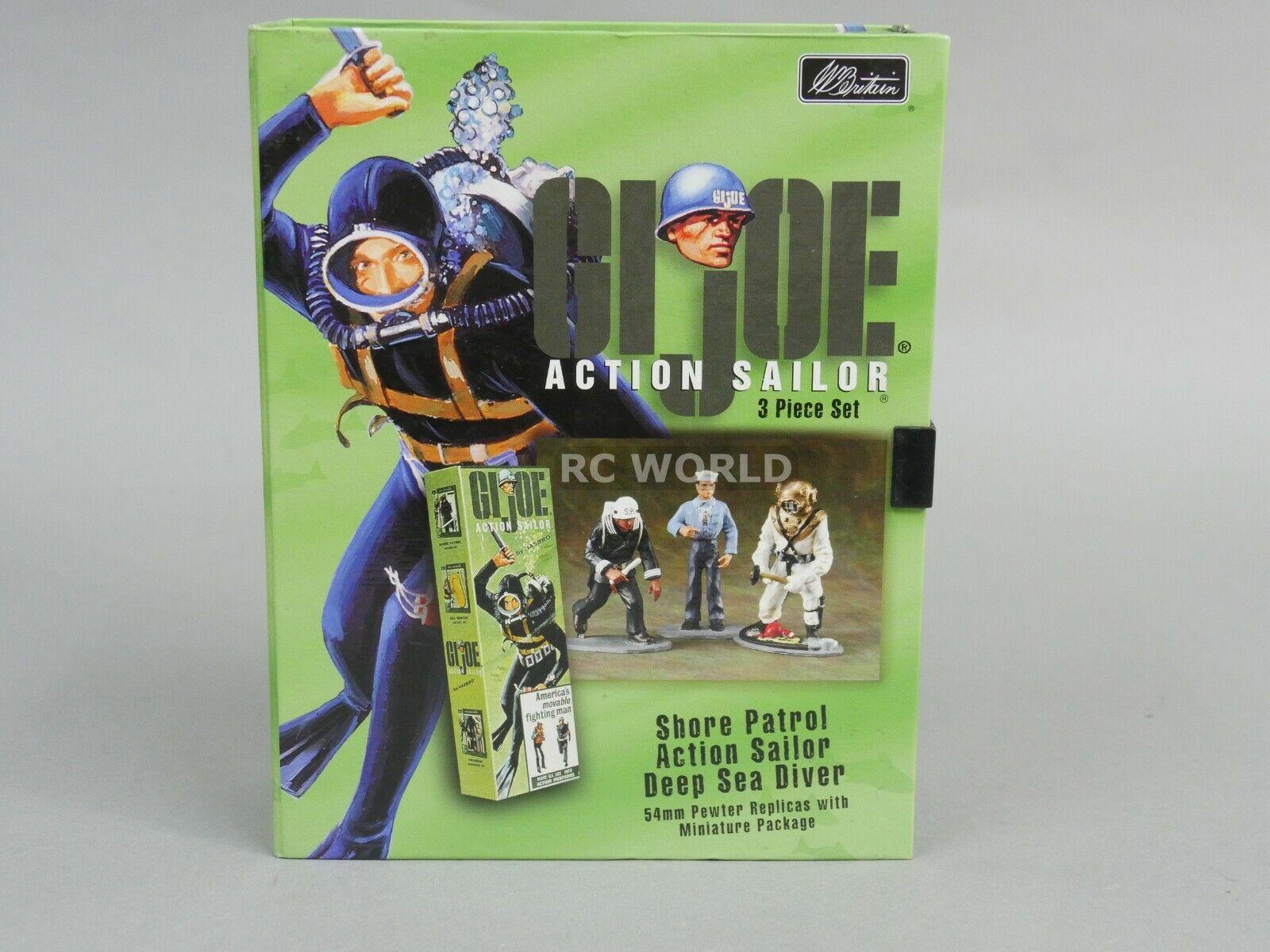 Britains Set Vintage G.I JOE Action Sailor Sailor Sailor 3 Piece 54mm Pewter Set  oa3 379451