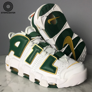 NIKE AIR MORE UPTEMPO 'ATLANTA' - WHITE GORGE GREEN-METALLIC gold - AJ3139-100