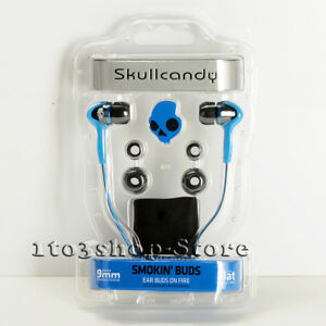 Skullcandy-SMOKIN-BUDS-In-Ear-Buds-Earphones-Headphones-S2SBCZ-035-Blue-Black