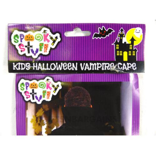 Witch Vampire Cape Spooky Stuff Kids Black Boy Girl Halloween Costume Accessory