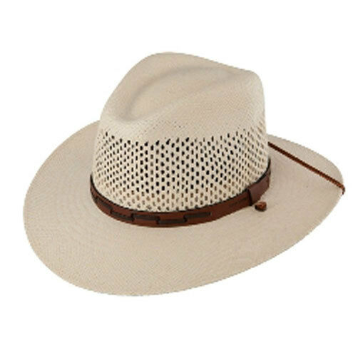 Stetson, 50+ UPF Dri-Lex Airway Straw Outdoor Sun Hat TSARWY-3830-81