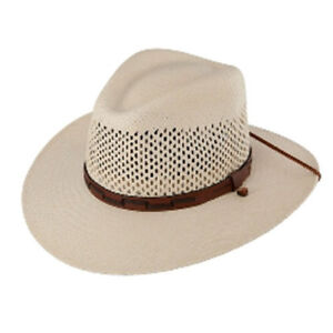 Image is loading Stetson-50-UPF-Dri-Lex-Airway-Straw-Outdoor- 19ace59328f