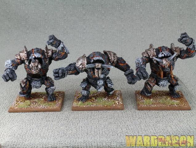 Kings of War Wds Pintado Regimiento de Infantería menor obsidian golem Grande e3