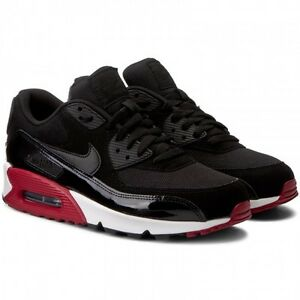 promo code 13173 741b2 Details about Nike Air Max 90 Essential Black Red - Men Shoes 537384 066 UK  7; 9; 12