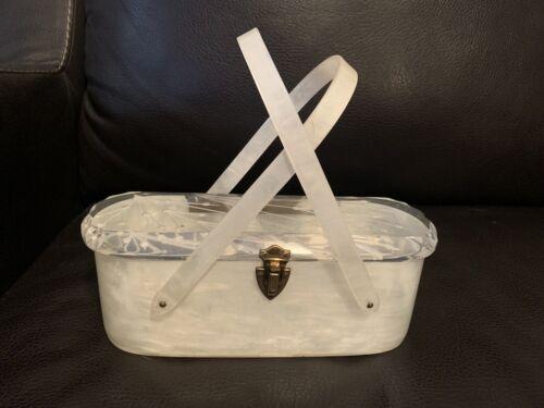 Vintage lucite handle purse