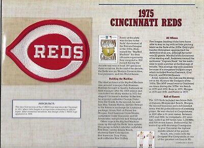 1975 Cincinnati Reds Willabee & Ward U.s Cooperstown Sammlung Sport Baseball & Softball