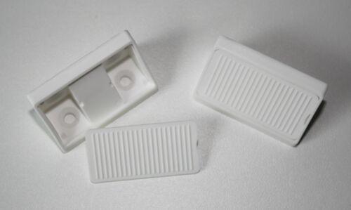 Korpusverbinder Eckverbinder mit Deckel 50 Stück weiß