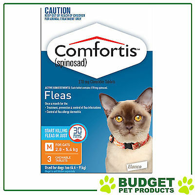 Comfortis For Cats 2.8-5.4kg Orange 3 Tablets