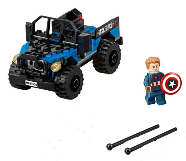 LEGO MARVEL MINIFIGURE 76047 - CAPTAIN AMERICA + 4x4 ONLY - BRAND NEW LOOSE
