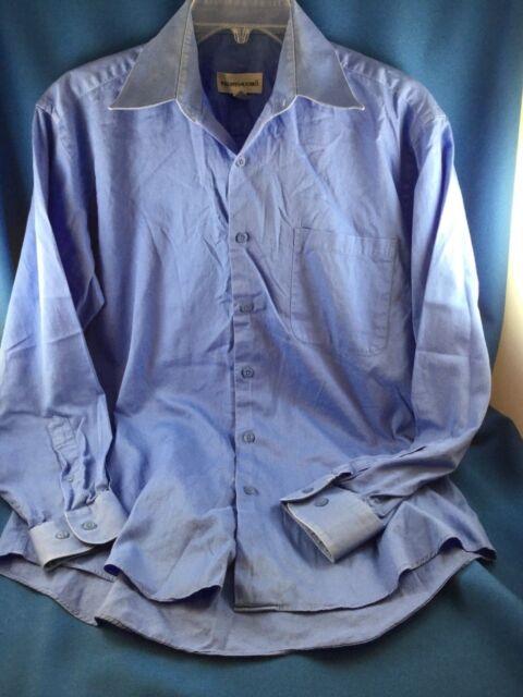 8acc23609b Preowned MEN S PRONTOUOMO BLUE BUTTON DOWN COLLARED SHIRT 15 32 33 ...
