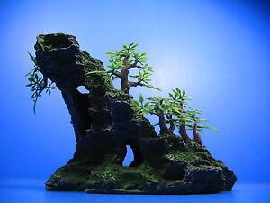 ... -View-Aquarium-Ornament-tree-22cm-Rock-Cave-Ornament-Decor-fish-tank