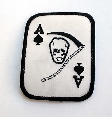 pins pin/'s flag badge metal lapel hat button biker on biker as spades card