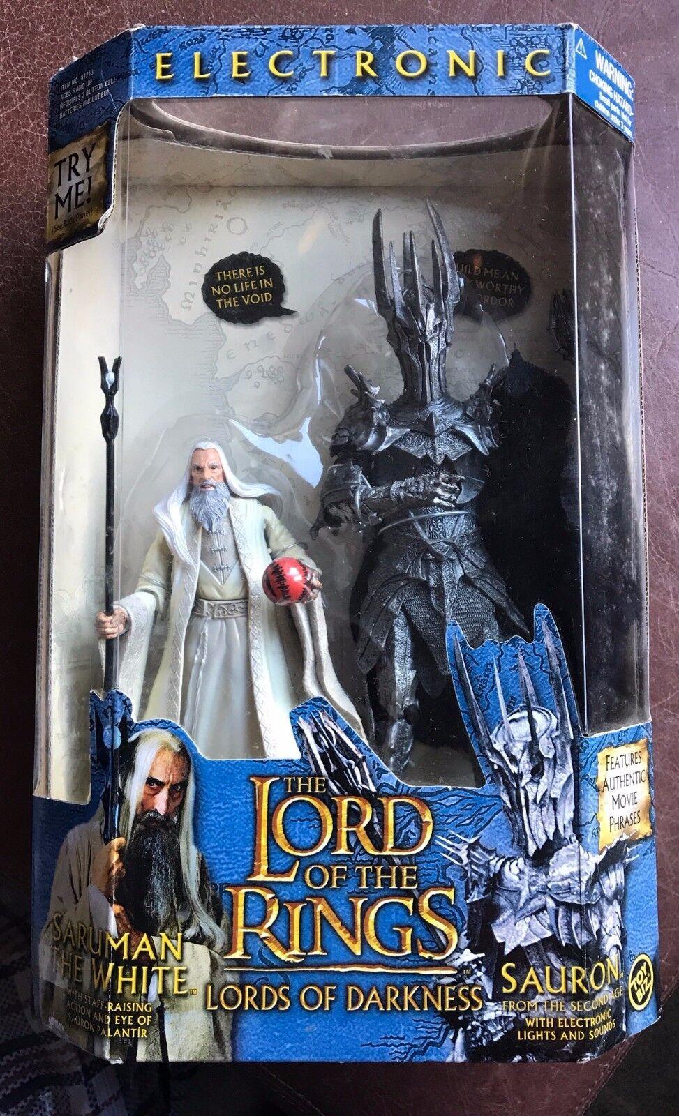 Extremamujerte Raro-Totalmente Nuevo-Perfecto Para Navidad electrónica Saruman y Sauron