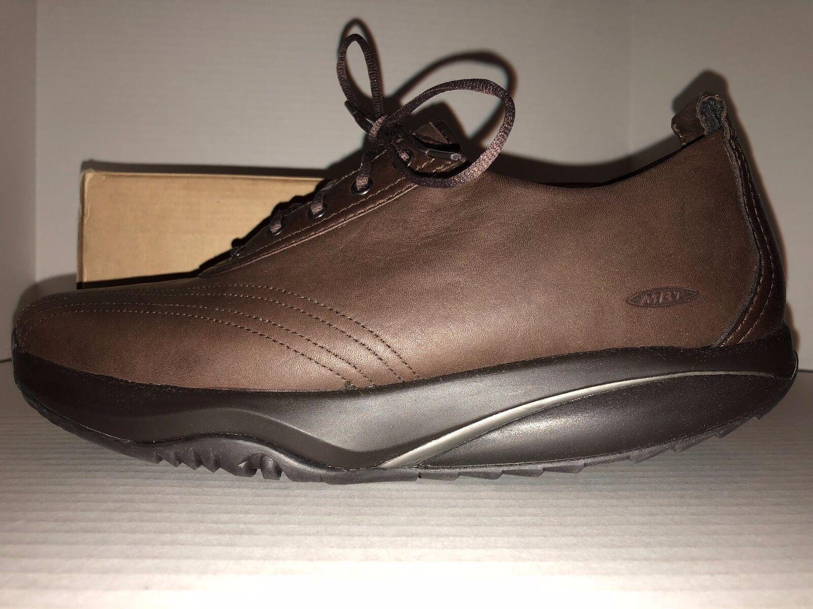 Women's Women's Women's NEW size 11 MBT Wingu Brown Leather shoes 9f9156