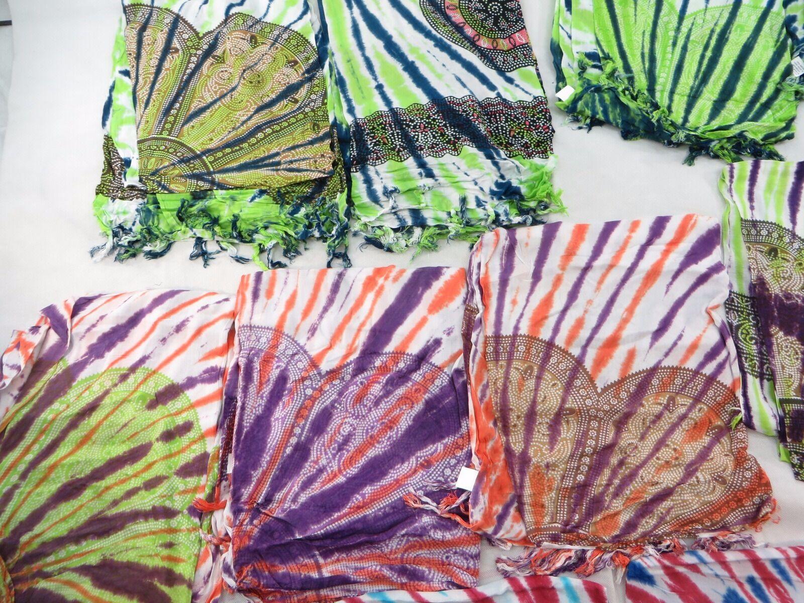US SELLERLot of 10 tie dye daisy mandala circle sarong
