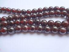 "6mm Natural Garnet Round Semi Precious Gemstone Beads - Half Strand (7.5"")"