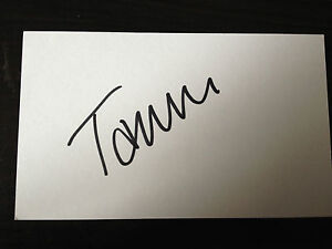 Tanni Grey Thompson Signed White Index Card High Quality And Inexpensive Legendary Paralympian