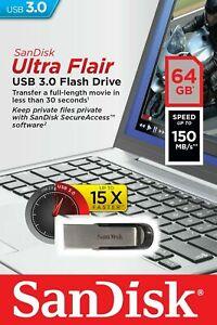 SanDisk-Ultra-Flair-64GB-32GB-16GB-USB-3-0-Flash-Drive-Thumb-Stick-Memory