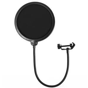Double-Layer-Studio-Recording-Microphone-Wind-Screen-Mask-Filter-Shield-BI
