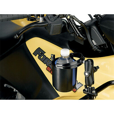 BLACK NEW MOOSE SELF-LEVELING DRINK CUP HOLDER FITS MOST ATV/'S//UTV MODELS