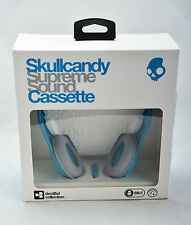 Skullcandy Cassette On-Ear Stereo Headphones w/Mic & Remote (Teal Blue) NEW