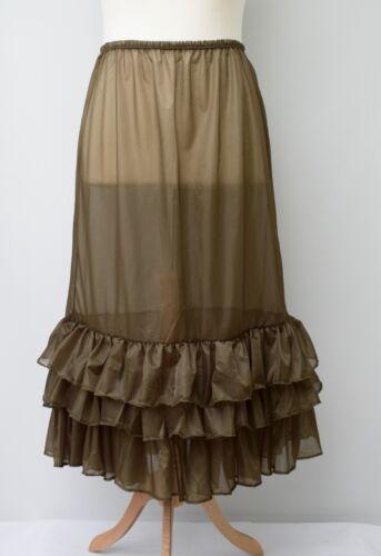 "Lagenlook MAGNIFIQUE Maxi jupon//jupon//robe ** KAKI ** taille jusqu/'à 50/"""