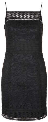 Topshop Black Floral Lace Bodycon Mini Dress