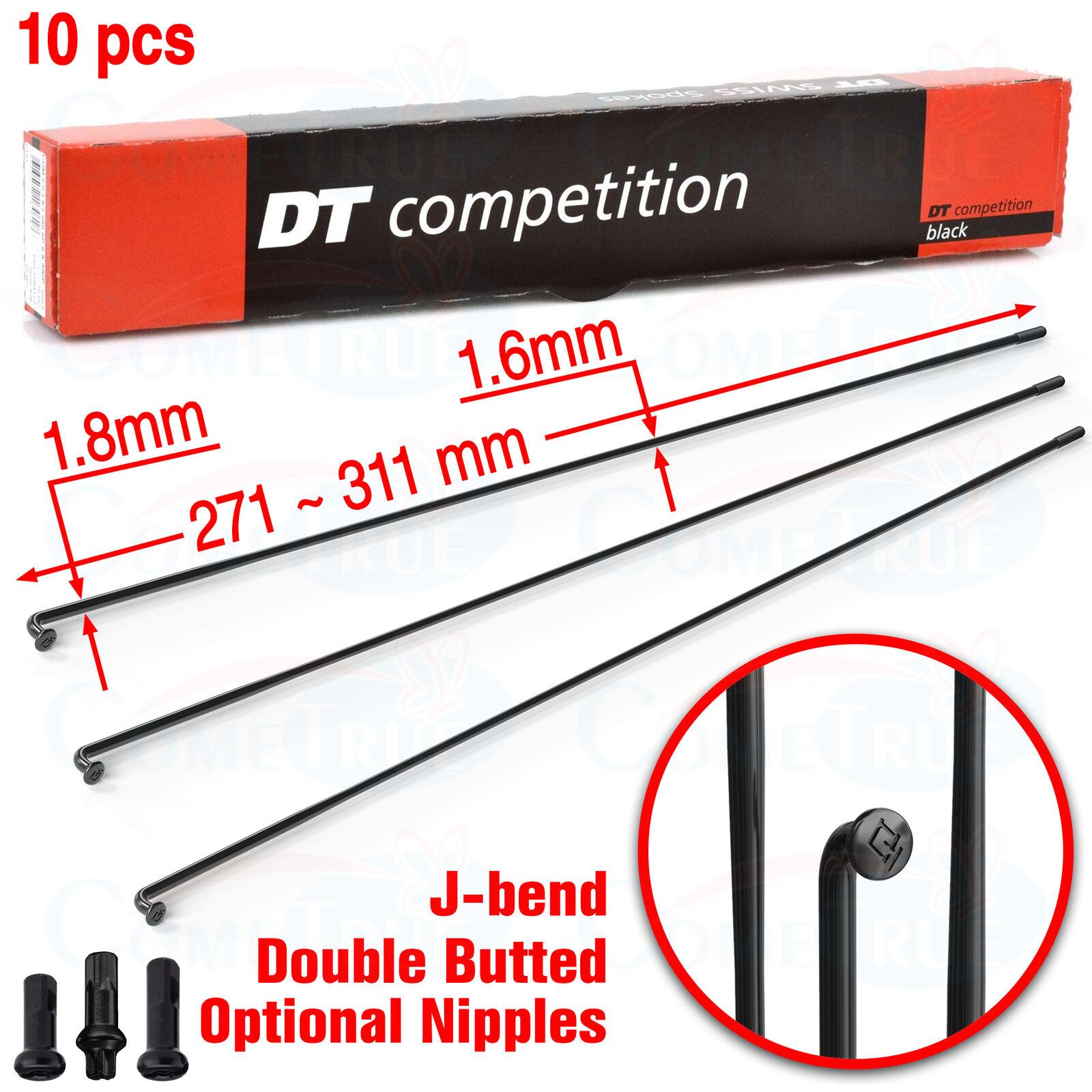2.0mm Bladed 292mm J-bend Black Each DT Swiss Aero Comp Spoke