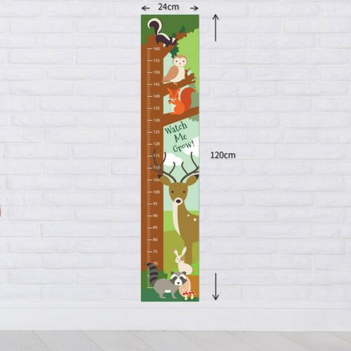 Personalised Woodland Animals Cute Height Growth Chart 8 Vinyl Wall Stickers