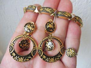 Very-Beautiful-old-Jewelry-Toledo-Bracelet-Ring-Earrings-Drop