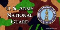 Us National Guard On Camouflage Photo Plate