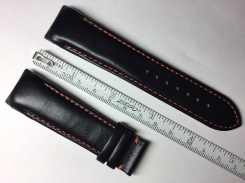 AUTHENTIC TISSOT COUTURIER NEW 23MM BLACK GENUINE LEATHER STRAP BAND BRACELET