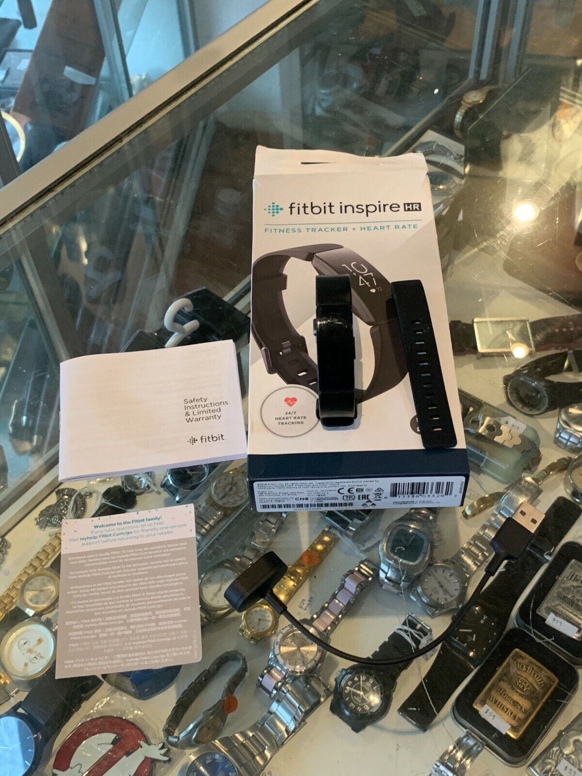 FITBIT INSPIRE HR (FB413) FITNESS TRACKER + HEART RATE / S/P + L/G IN BOX