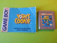 Yoshi's Cookie + Instructions - Nintendo Game Boy / GBC / GBA