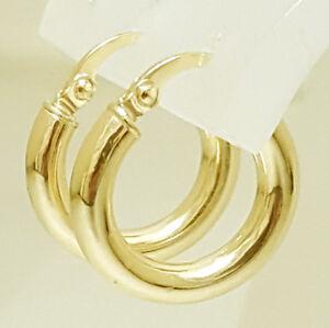 Elegante-Gelbgold-Damen-Creolen-Ohrringe-585-Gold-14-Kt-Neu
