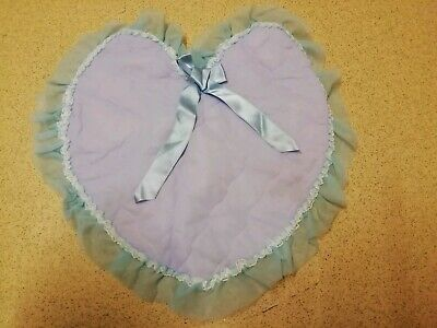 Linens & Textiles (pre-1930) Vintage Handmade Quilted Lilac Heart Pillow Case & Blue Nylon Ruffle Trim Ribbon Relieving Rheumatism