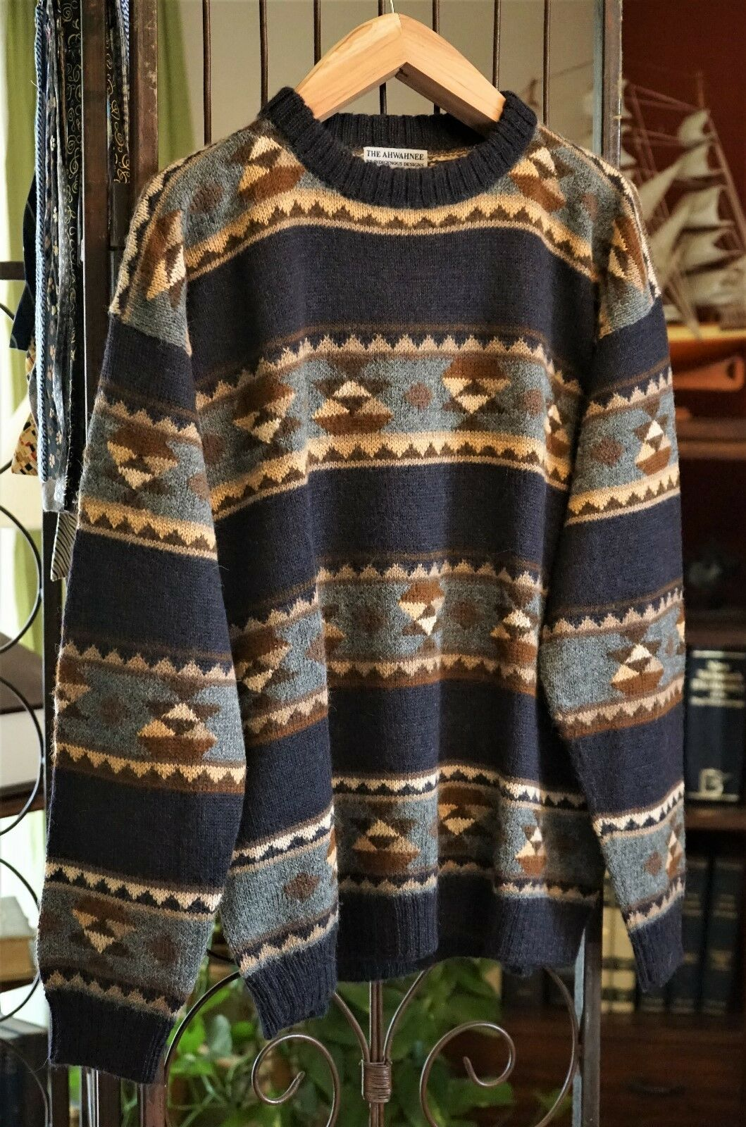 The Ahwhnee by Indigenous Designs,100% Alpaca Wool Sweater, Size XXL