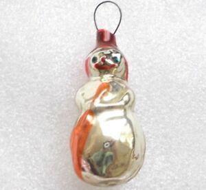 Alten-Antiker-Russen-Christbaumschmuck-Glas-Weihnachtsschmuck-Snowman-Ornament