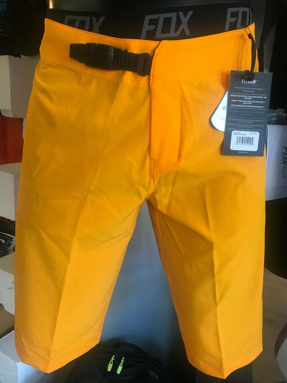 FOX FLEXAIR LITE courte kurze Hose MTB Orange mit Innenhose & Polster