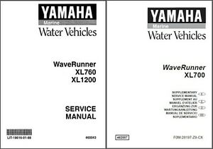 Yamaha Xl1200 waverunner manual