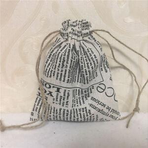 Cotton Linen Drawstring Multi-purpose Organizer Gift Bag Eiffel Town Crown 8123S