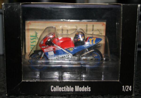 Adaptable Jurgen Van Den Goorbergh Honda Nsr500 V Twin 1998 Avec Casque 1:24 2 Roues Vif Et Grand Dans Le Style