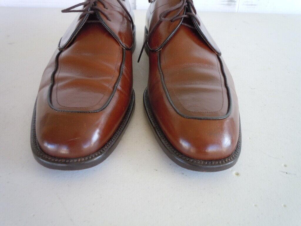 MEZLAN PALMETTO Brown Leather Made Spain Mens Oxford shoes Sz 12 M