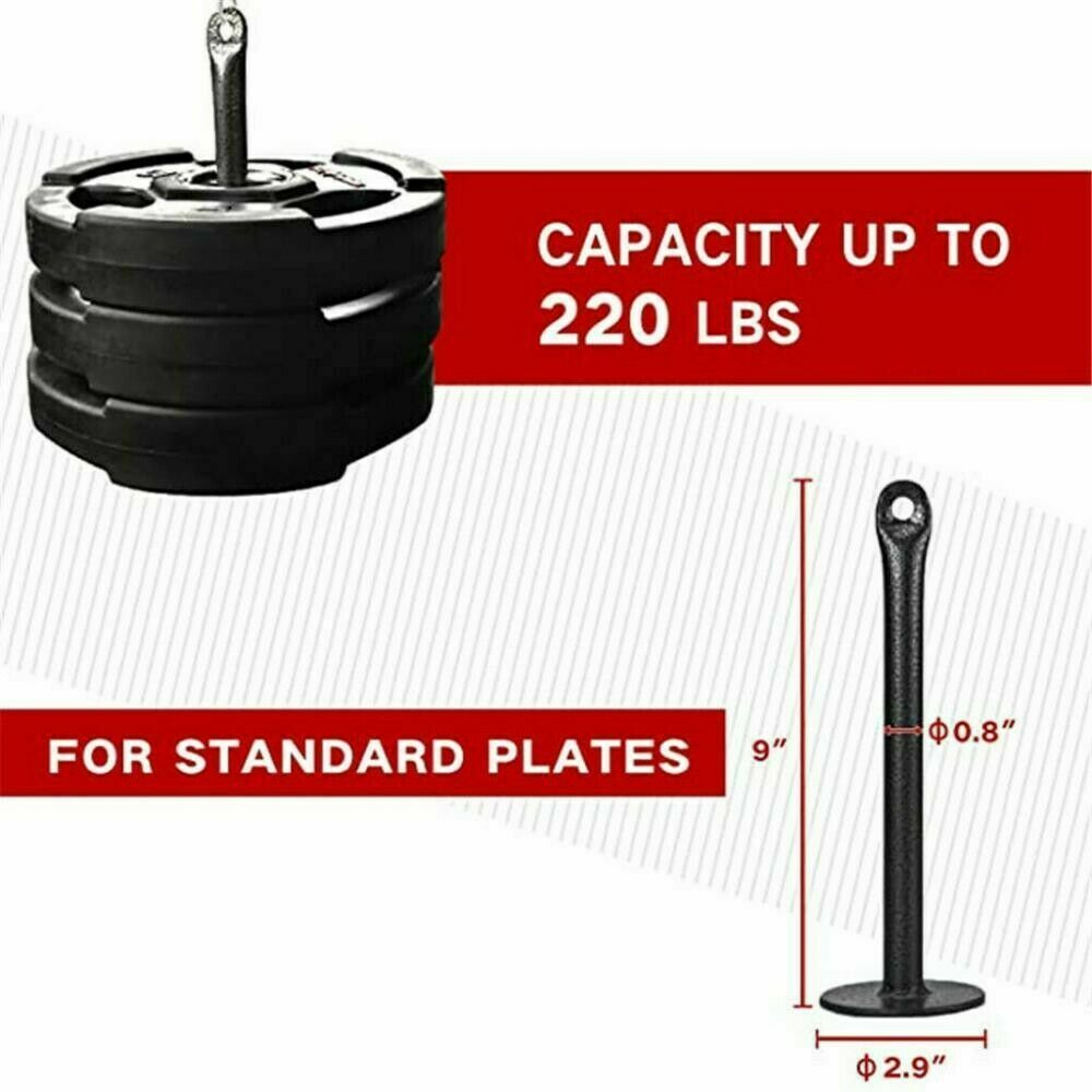 """55-98/"""" Fitness DIY Pulley Cable Machine Set Biceps Triceps Arm Strength Trainin"""
