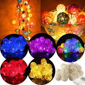 2-5M-20-LED-Rattan-Ball-Battery-String-Lamp-Fairy-Light-Xmas-Wedding-Party-Dec